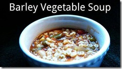 barley vegtable soup