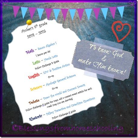 Amber's Schedule